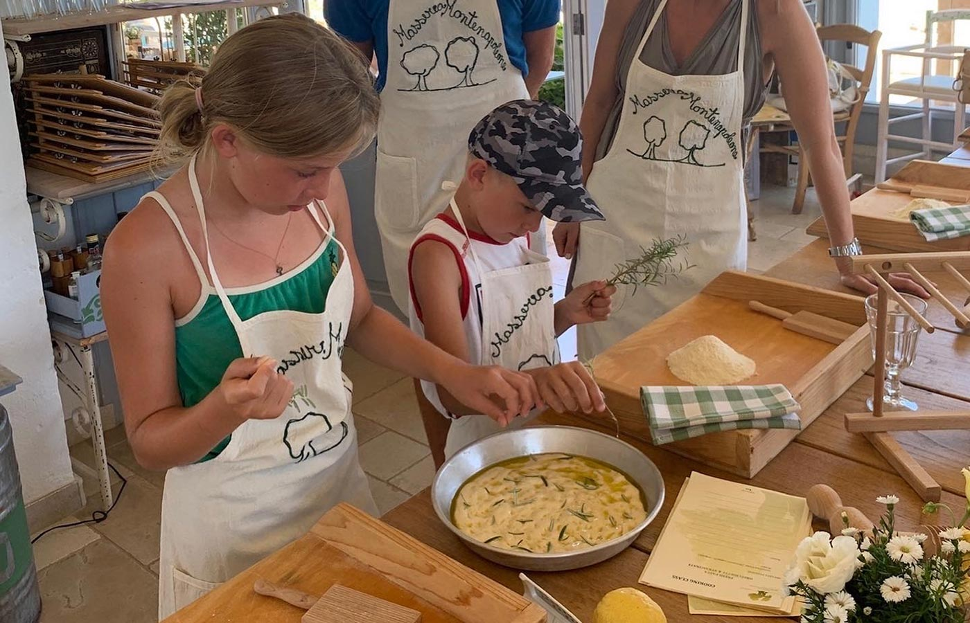 cooking class in masseria